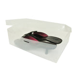 Clear Shoe Storage Box Container for Closet Organization (Set of 10)