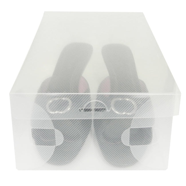 Clear Long Boot Storage Box Container for Closet Organization (Set of 2)