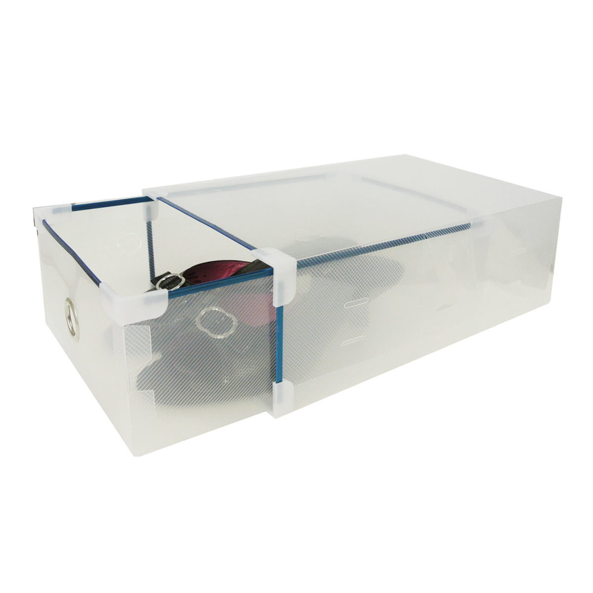 Set of 10 Clear Drawer Style Shoe Box for Closet Organization