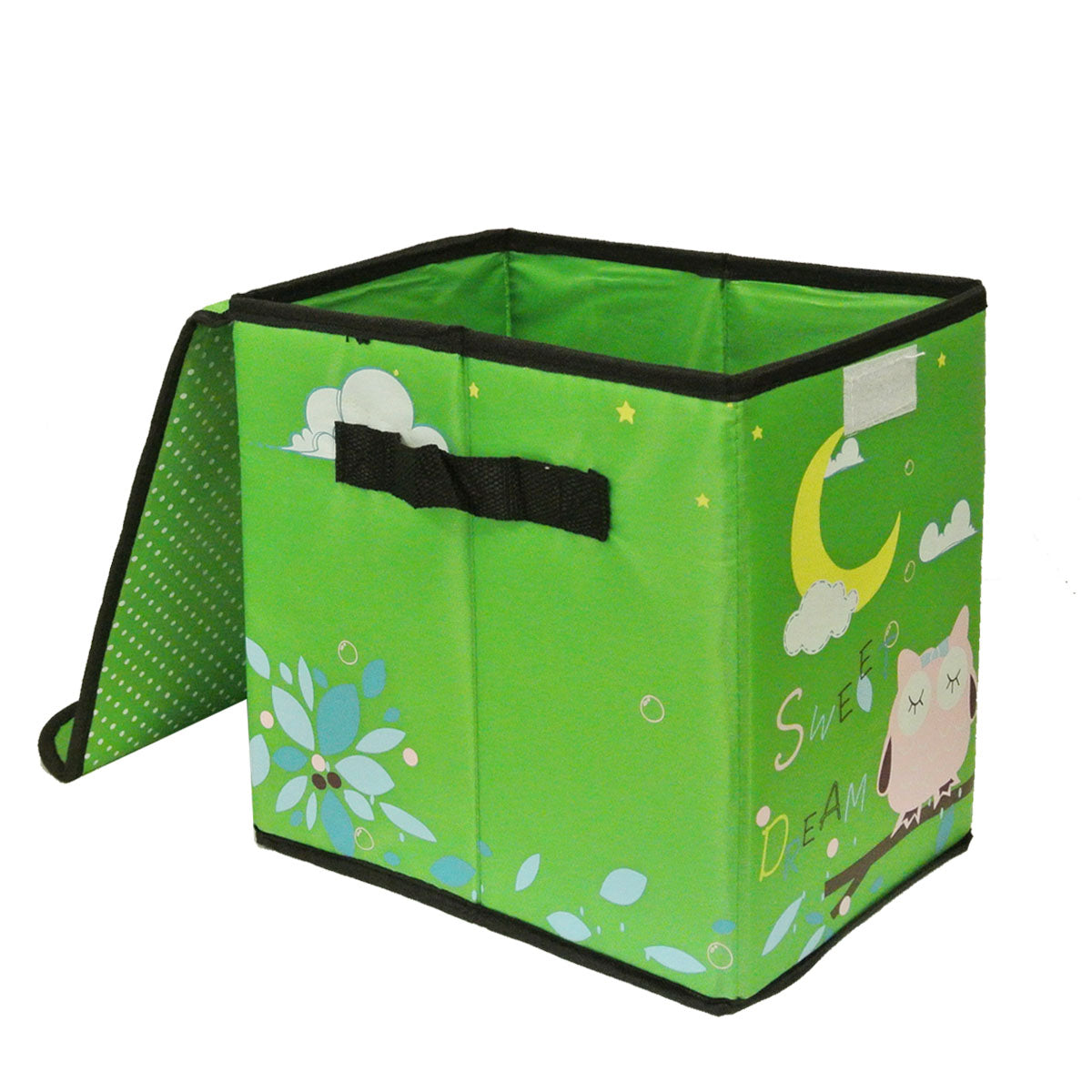 Children's Owl Fabric Storage Bin for Clothes and Toys