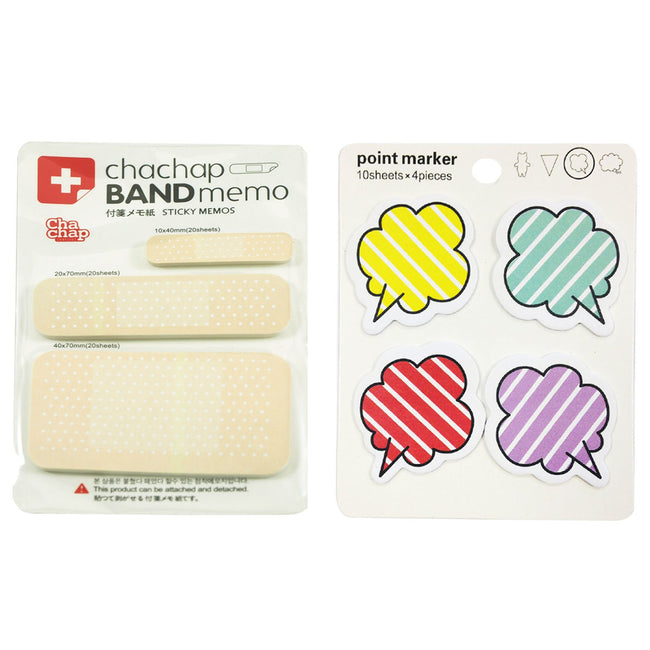 Wrapables Sticky Notes, Set of 2 (Band Aid,Talking Bubble)