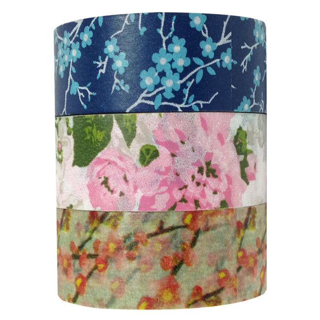 Wrapables Spring Bloom Japanese Washi Masking Tape (set of 3)