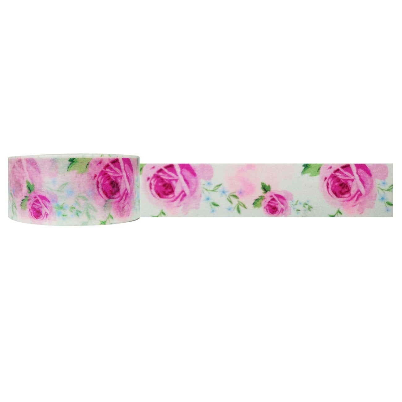 Wrapables Floral & Nature Washi Masking Tape, Sweet Rose
