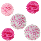Wrapables Set of 5 Tissue Pom Poms Party Decorations