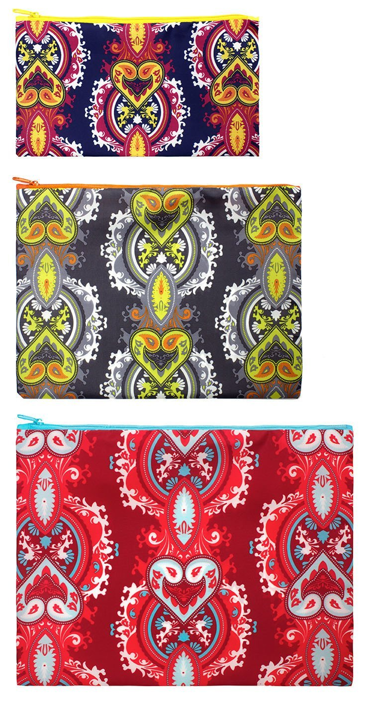 LOQI Opulent Zip Pockets (Set of 3)