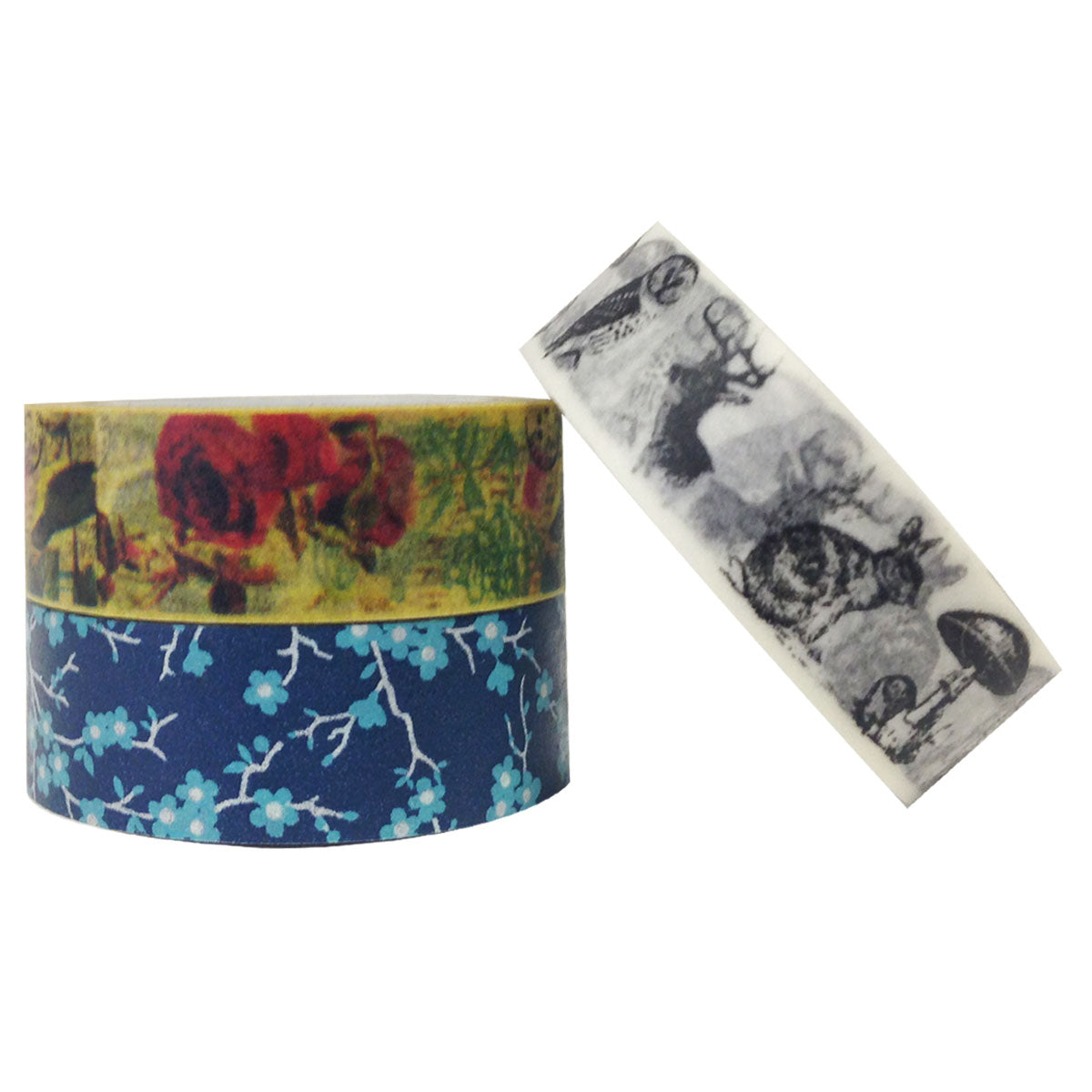 Wrapables Old Memories Japanese Washi Masking Tape (set of 3)