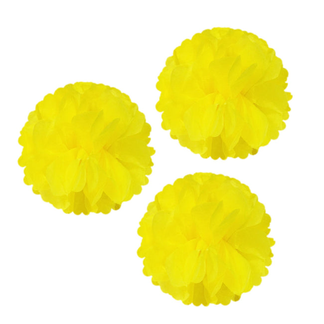 "12"" Set of 3 Tissue Pom Poms Party Decorations"