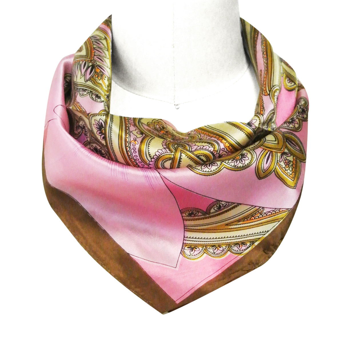 Wrapables 100% Silk Neckerchief Square Scarf