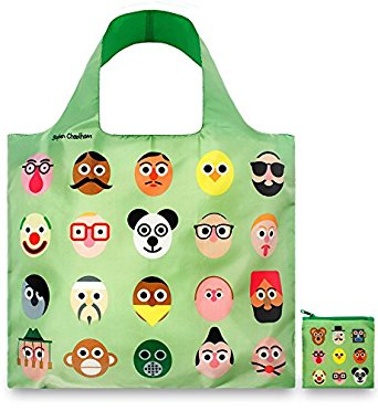LOQI Artist Faces Reusable Shopping Bag