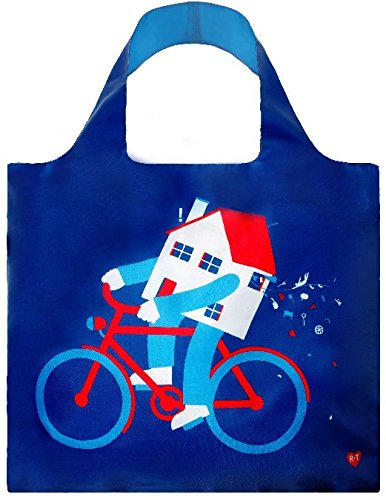 LOQI Artist Moving House Reusable Shopping Bag