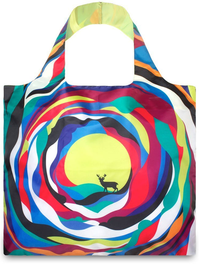 LOQI Artist Psychedelic Reusable Shopping Bag