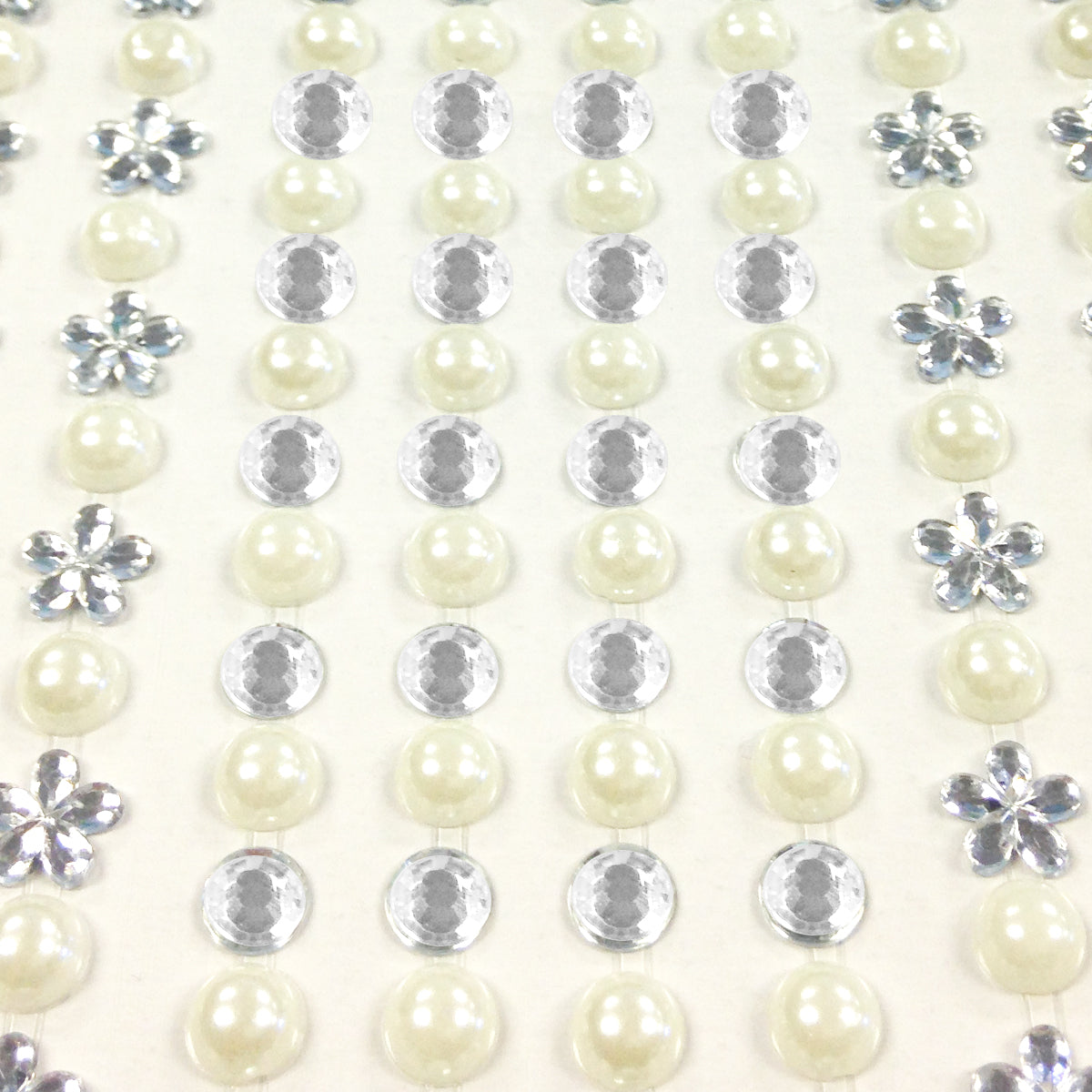 Pink Wrapables 164-Piece Crystal Star and Pearl Stickers Adhesive Rhinestones Set