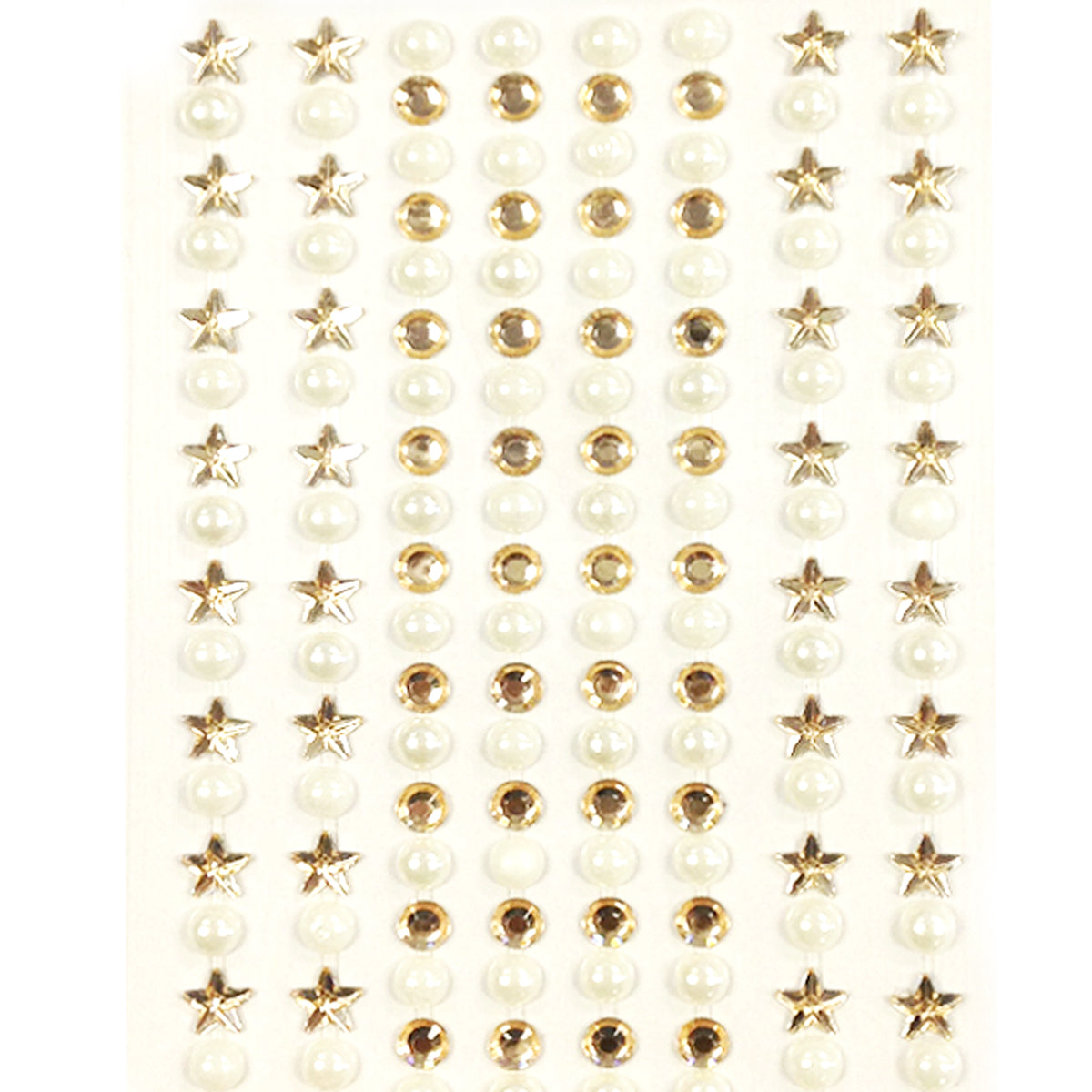 Wrapables 164 pieces Crystal Star and Pearl Stickers Adhesive Rhinestones