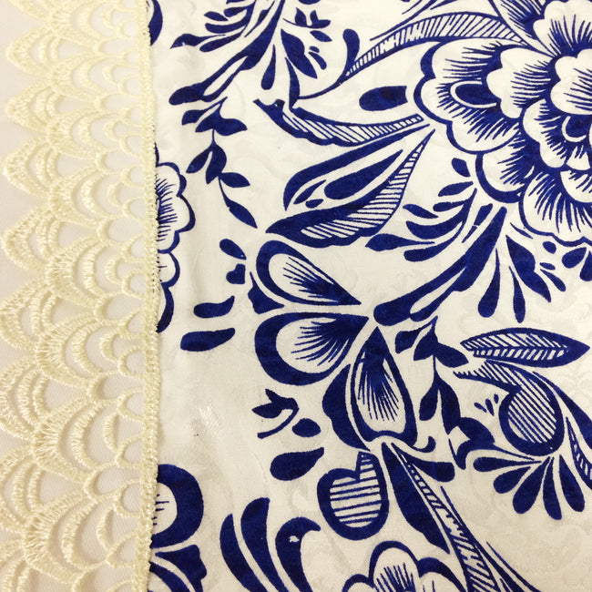 Wrapables Asian Blue Flower Placemats (Set of 4)