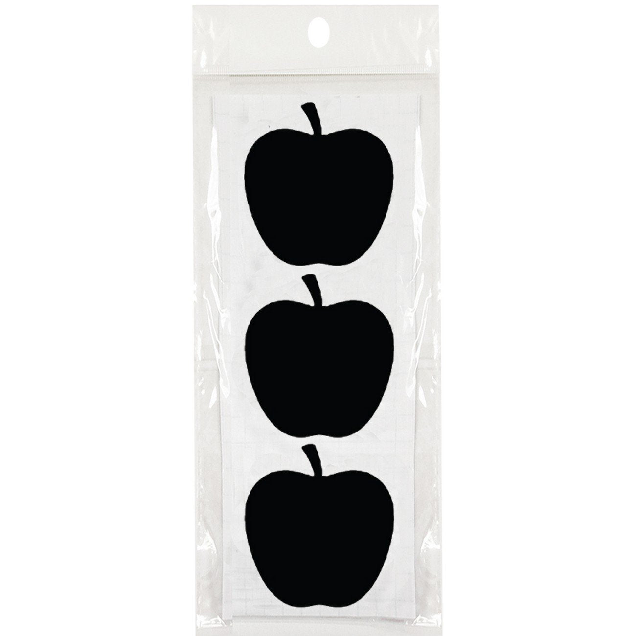 "Wrapables Set of 30 Chalkboard Labels / Chalkboard Stickers  - 2.6"" x 2.5"" Apple"