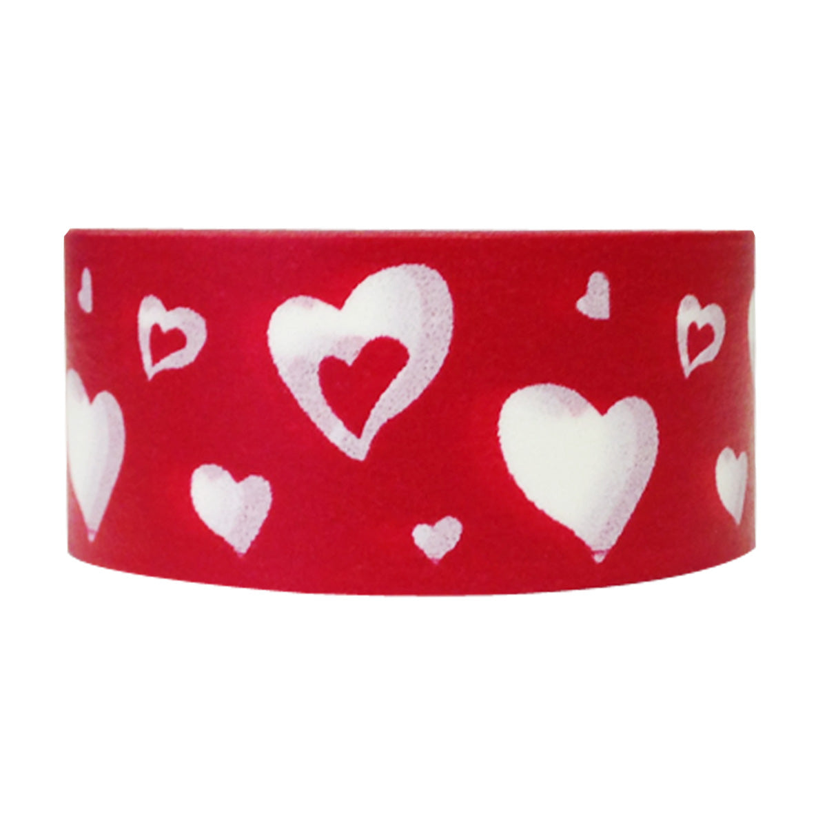 Wrapables Hearts & Sweets Washi Masking Tape, Dancing Hearts