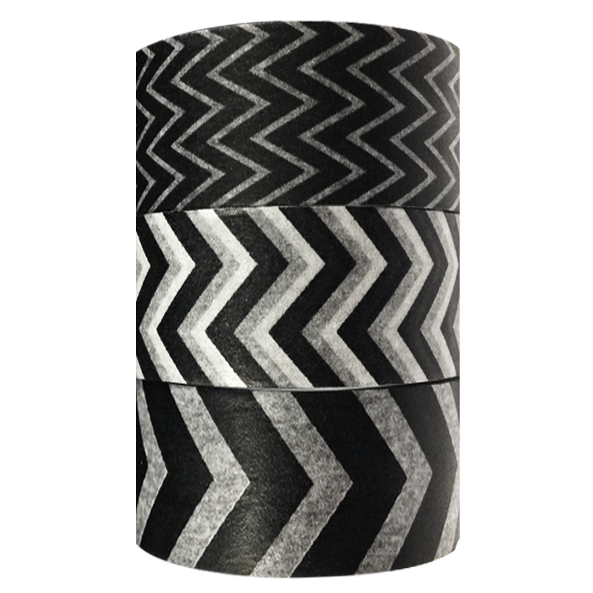 Wrapables Black and White Chevron Washi Masking Tape (set of 3)