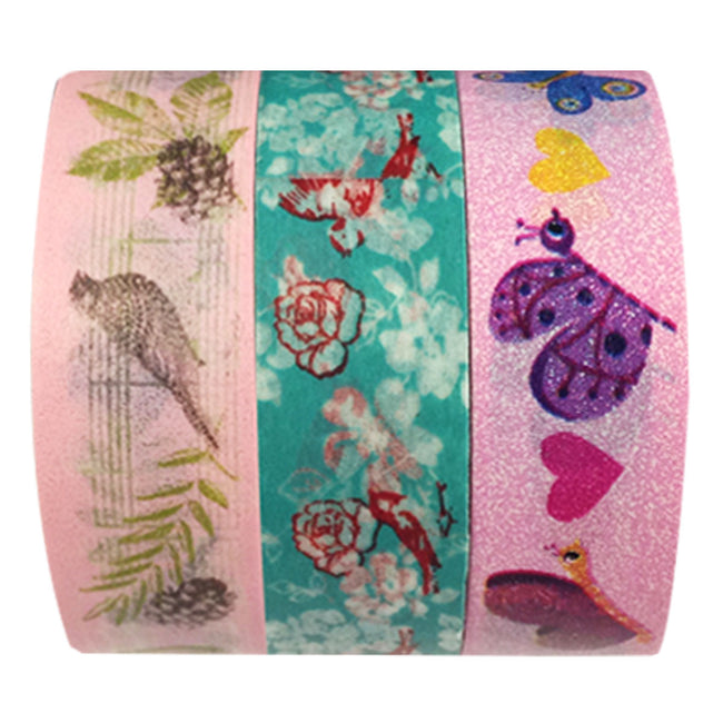 Wrapables Nature's Dance Washi Masking Tape (set of 3)