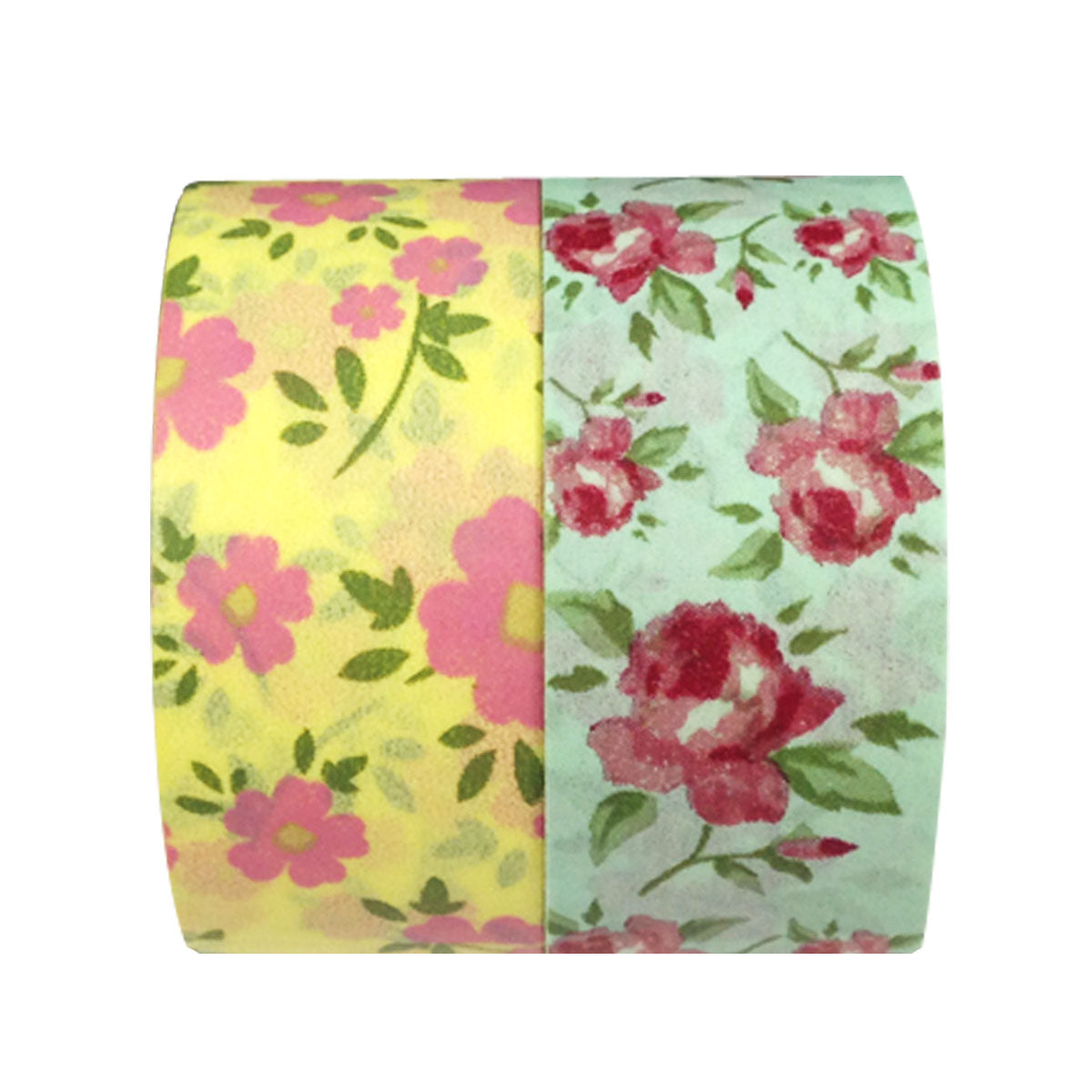 Wrapables Sweet Bouquet Washi Masking Tape (set of 2), 10M L x 20mm W