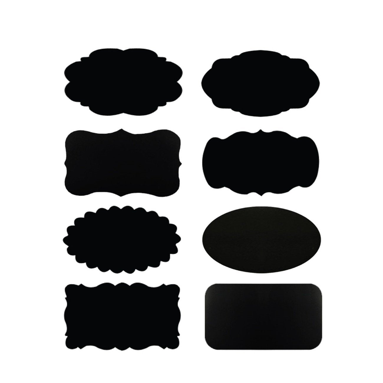 "Wrapables Set of 64 Chalkboard Labels / Chalkboard Stickers - 2 "" x 1.25 "" With Chalk Marker"