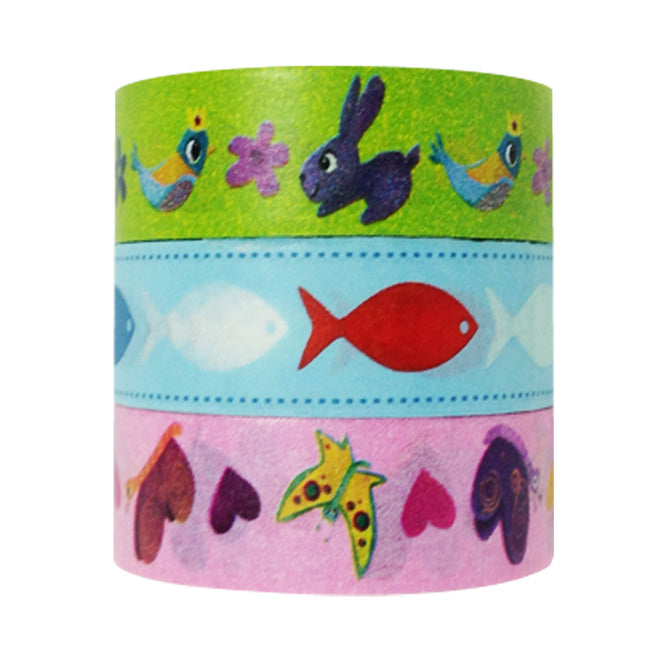 Wrapables Nature Lover Washi Masking Tape (set of 3)