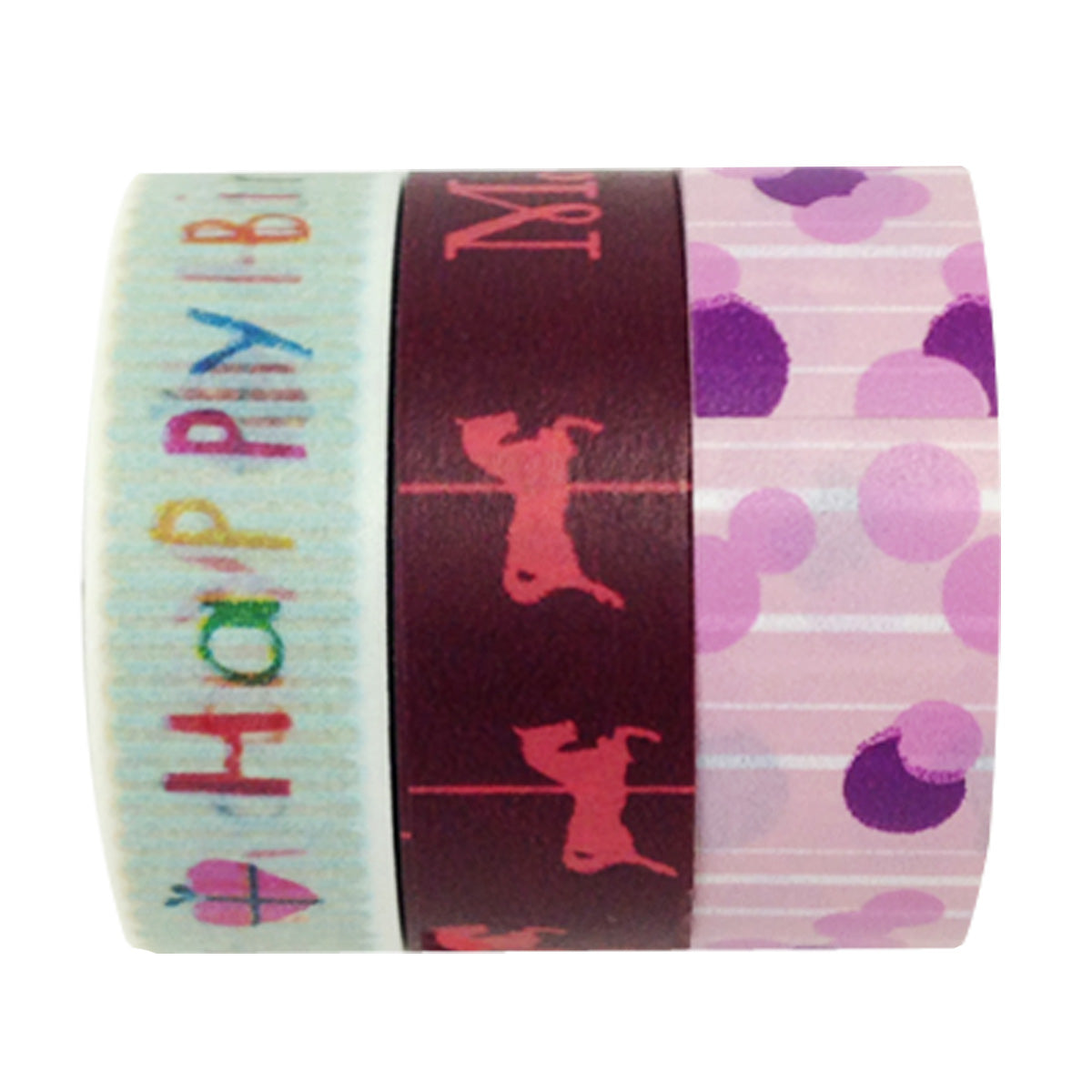 Wrapables Birthday Bash Washi Masking Tape (set of 3)