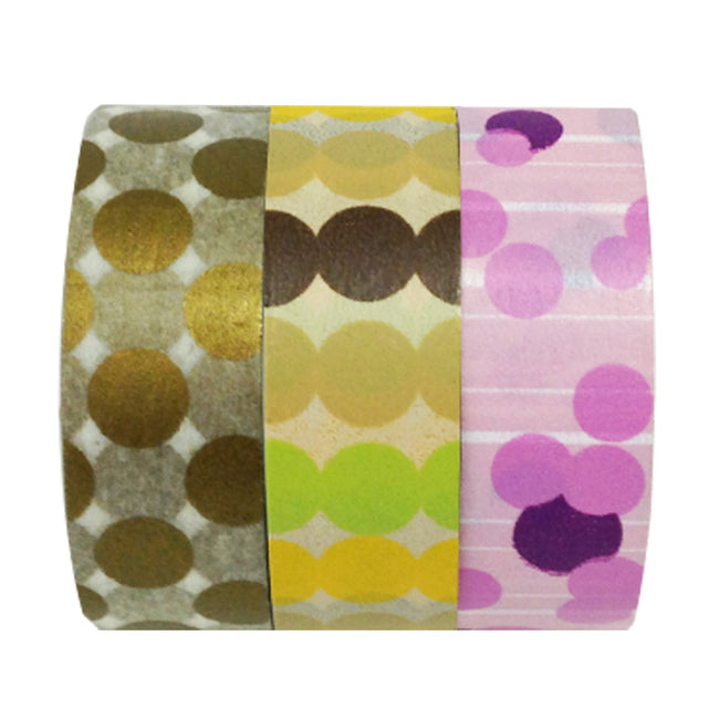 Wrapables Party Time Washi Masking Tape (set of 3)