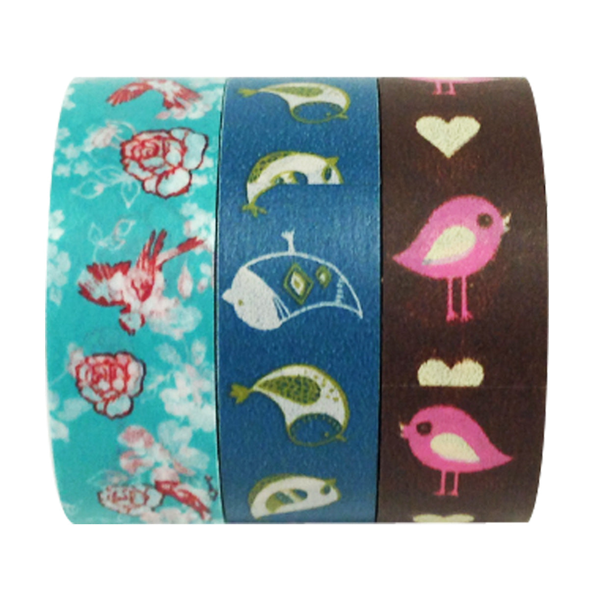 Wrapables Bye Bye Birdie Washi Masking Tape (set of 3)