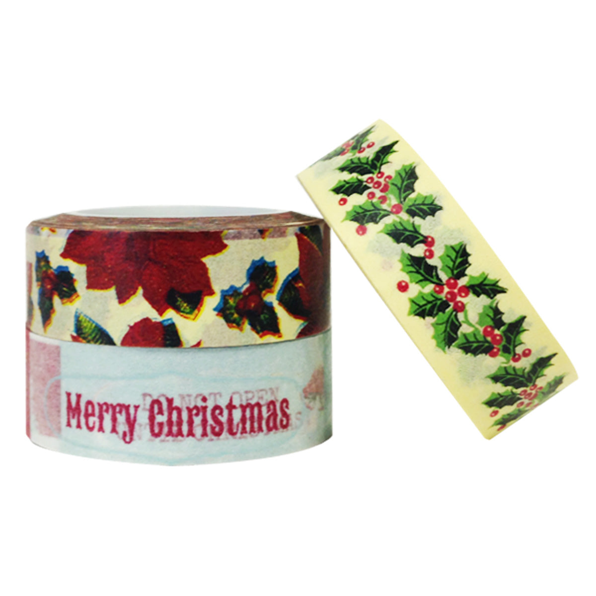Wrapables Happy Holidays Washi Masking Tape (set of 3)