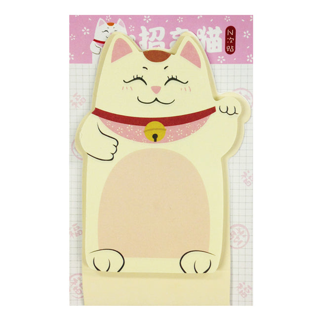 Wrapables Fortune Cat Memo Bookmark Sticky Notes (Set of 2)