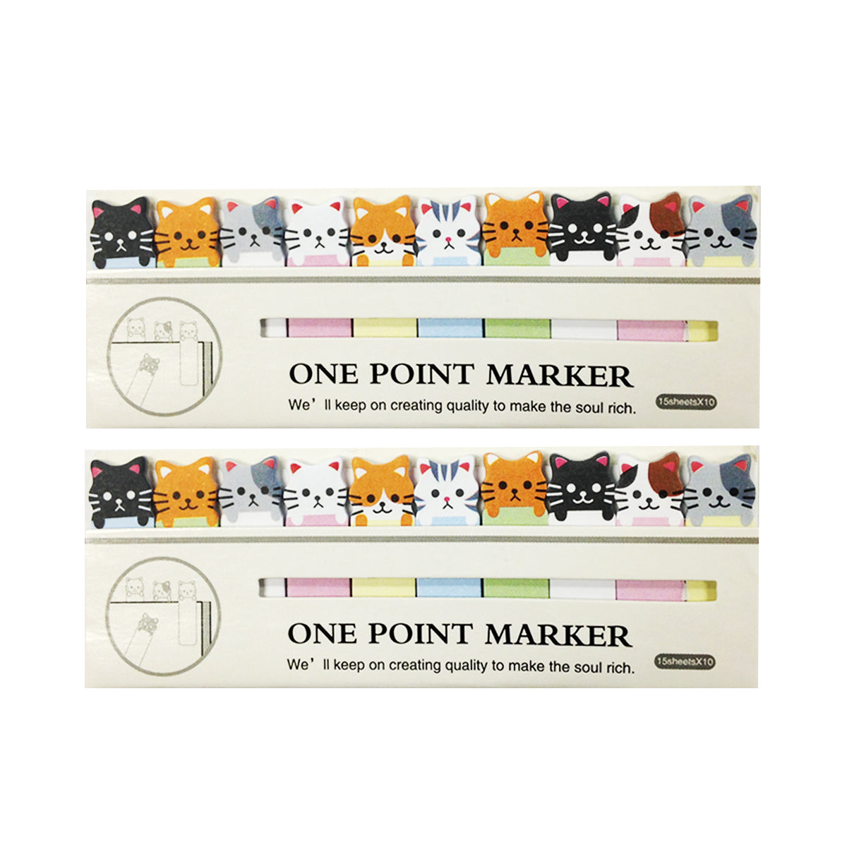 Wrapables Bookmark Flag Tab Sticky Notes (Set of 2)