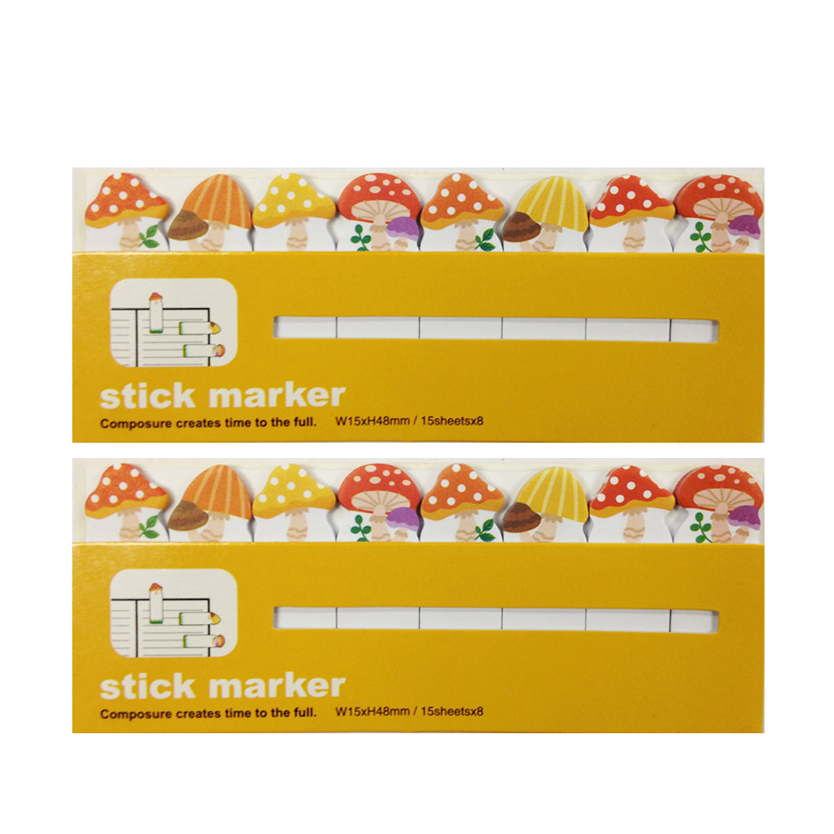 Wrapables Bookmark Flag Tab Sticky Markers (Set of 2)