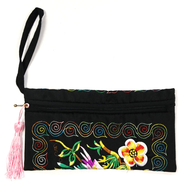 Wrapables Ethnic Embroidered Wristlet Clutch Purse