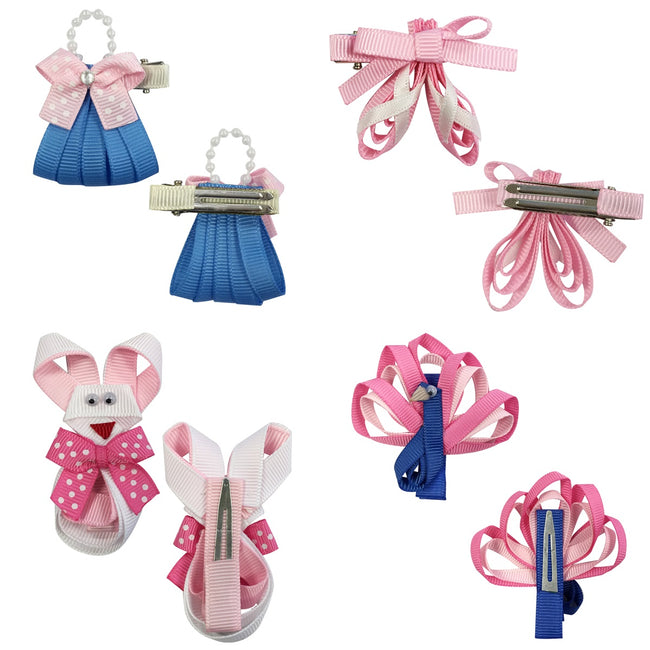 Wrapables Baby Toddler Ribbon Sculpture Hair Clips (Set of 10)
