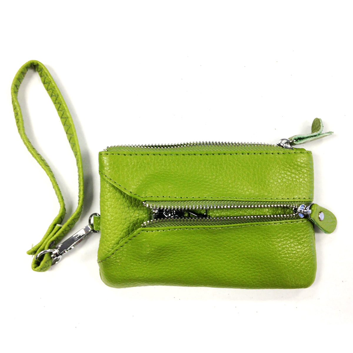 Colorful Genuine Leather Wristlet Wallet