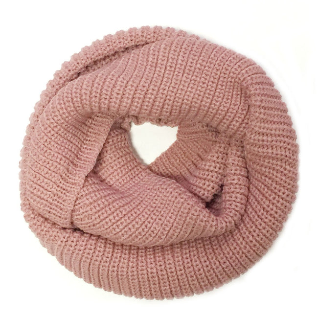 Thick Knitted Winter Warm Infinity Scarf