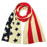 Wrapables Vintage Old Glory American Flag Scarf, Red/Blue