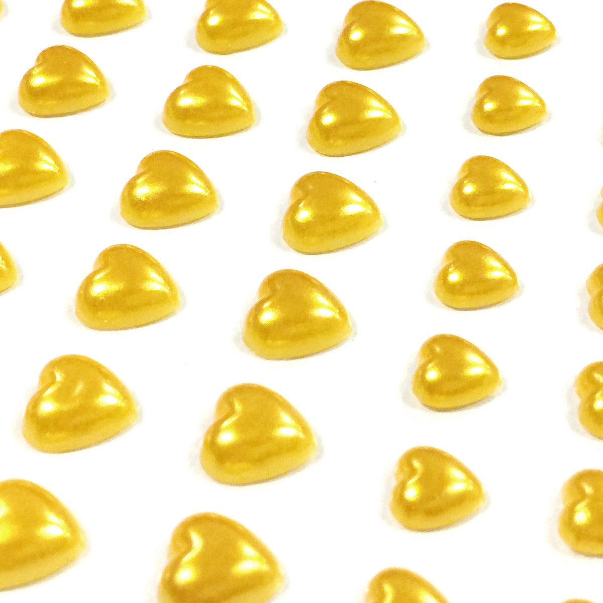 Wrapables 84 Piece Acrylic Adhesive Heart Gems