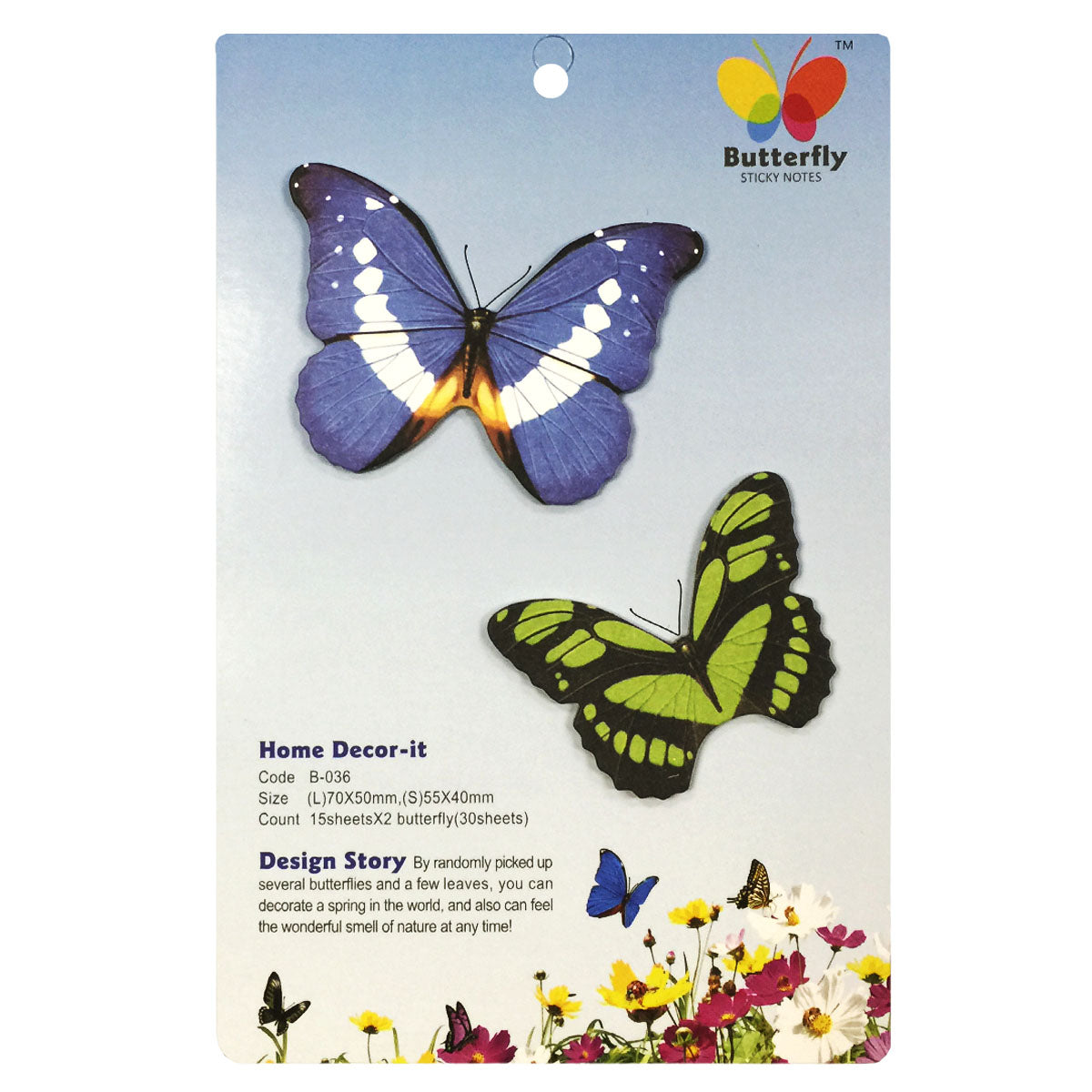 Wrapables Butterfly Memo Bookmark Sticky Notes