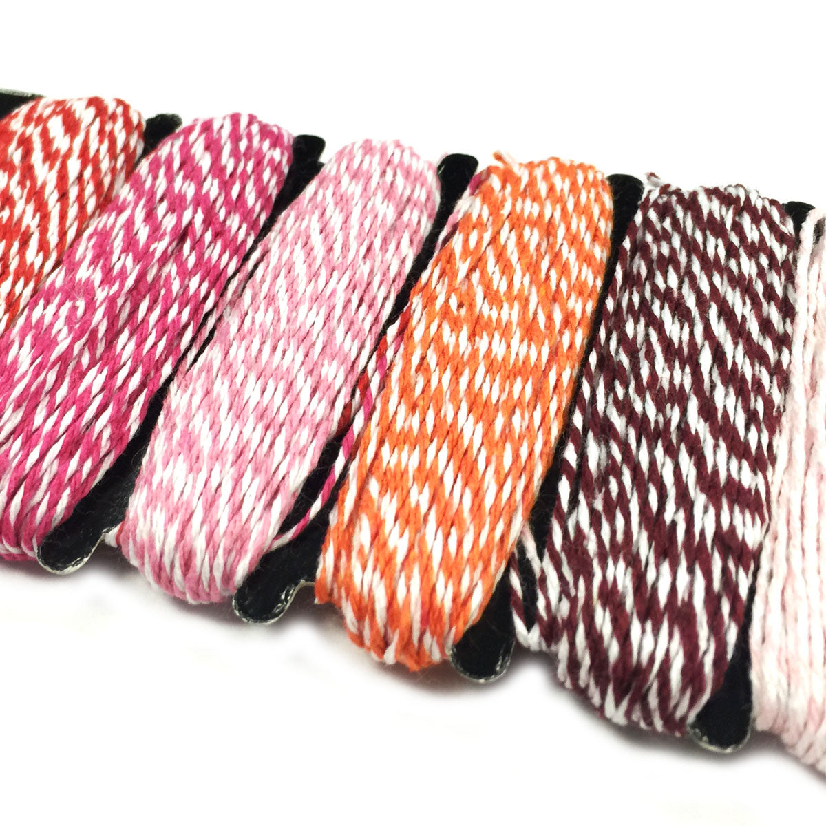 Wrapables Cotton Baker's Twine 4ply 60 Yards (Set of 6 Colors x 10 Yards)