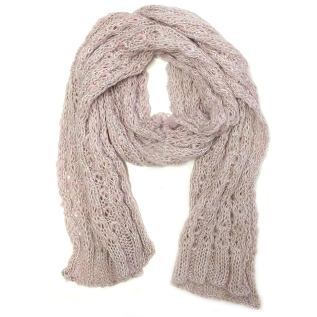Wrapables Multi-Color Thick and Warm Cable-Knit Long Scarf