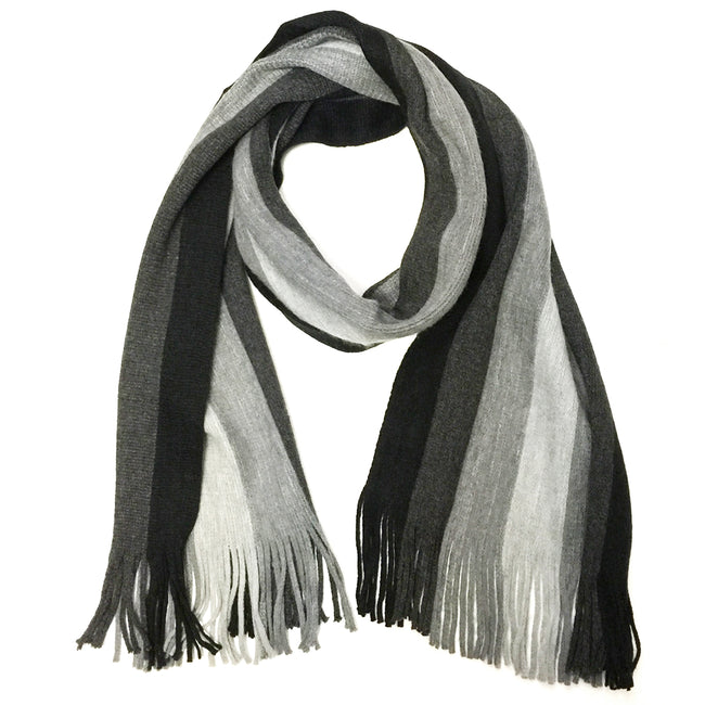 Wrapables Men's Classic Multi-stripe Wool Long Scarf
