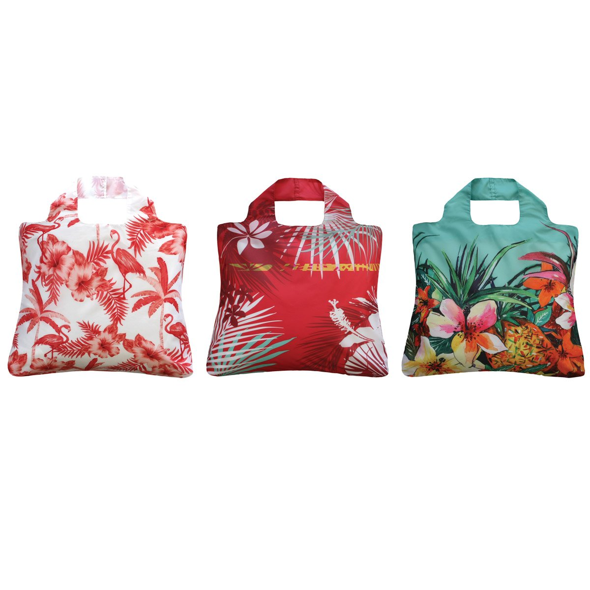 Envirosax Tropics Reusable Shopping Bags, Tropical Garden (Set of 3)