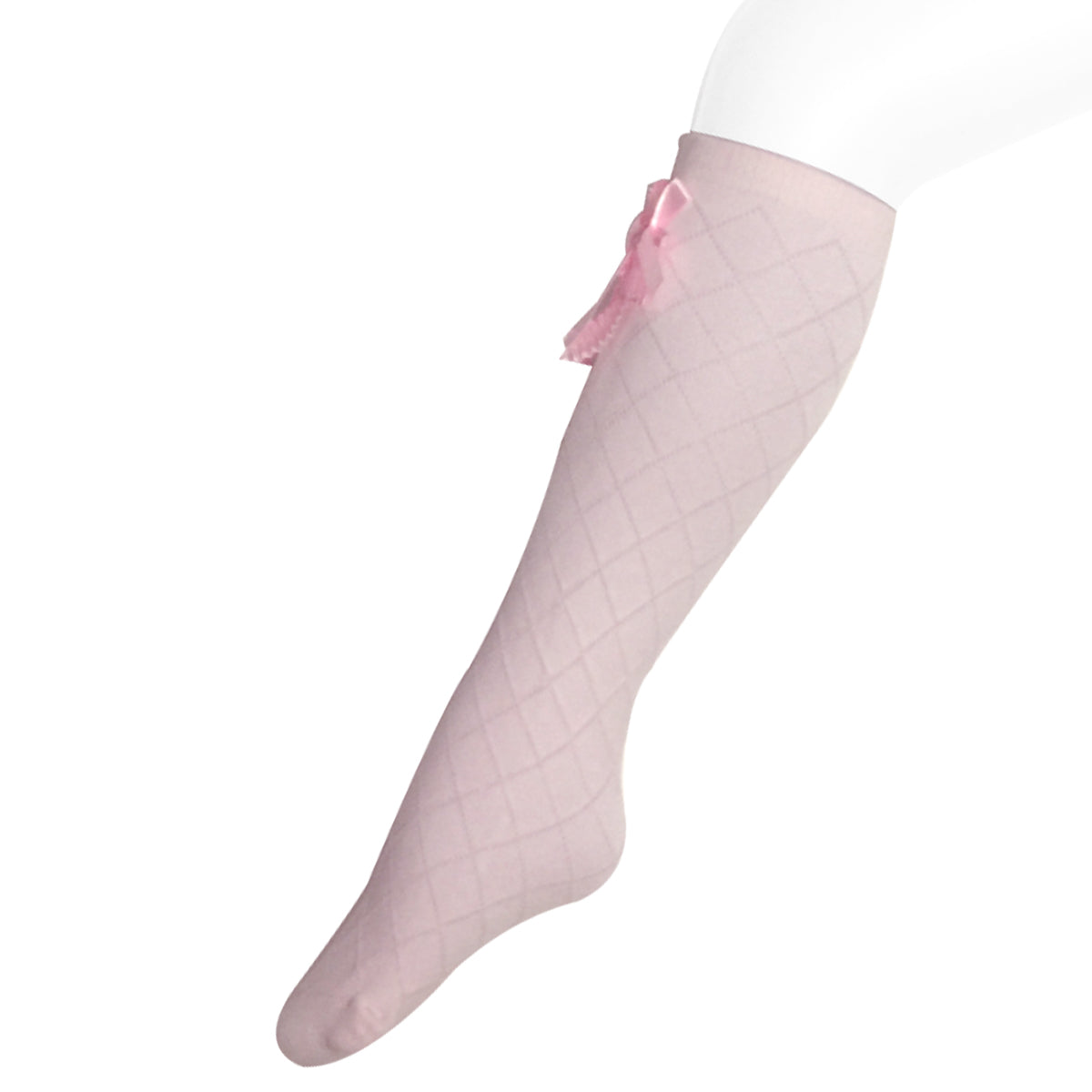 Wrapables Knee High Diamond Pattern Girl Socks (Set of 4)