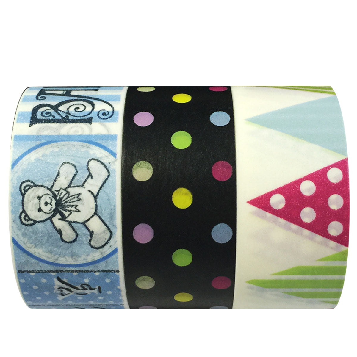 Wrapables Baby Shower Washi Masking Tape (set of 3)