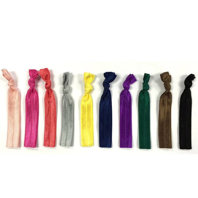Wrapables 10 Pack Elastic Hair Ties Ponytail Holder