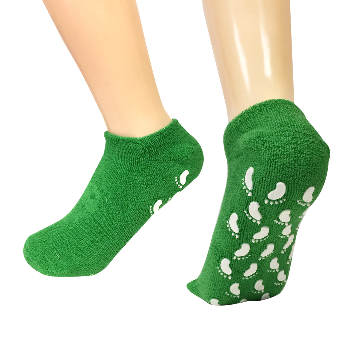 Wrapables Women Ankle Length Non-Skid Gripper Socks (Set of 3), Blue, Green, Black