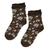 Wrapables Women's Vintage Floral Posies Socks (Set of 5)