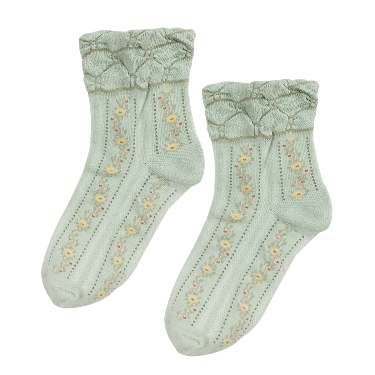 Wrapables Women's Vintage Floral Socks (Set of 3)