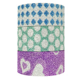 Wrapables Hearts Dots and Checkers Washi Masking Tape (set of 3)